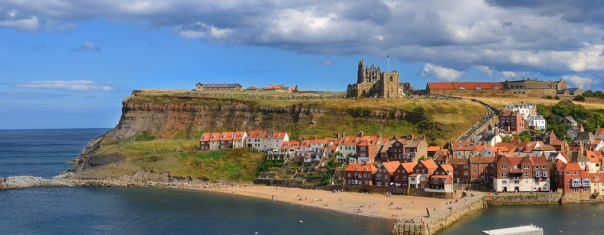 Cliffs in Whitby, England